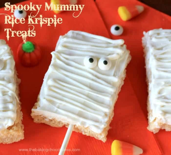 Spooky Mummy Rice Krispie Treats