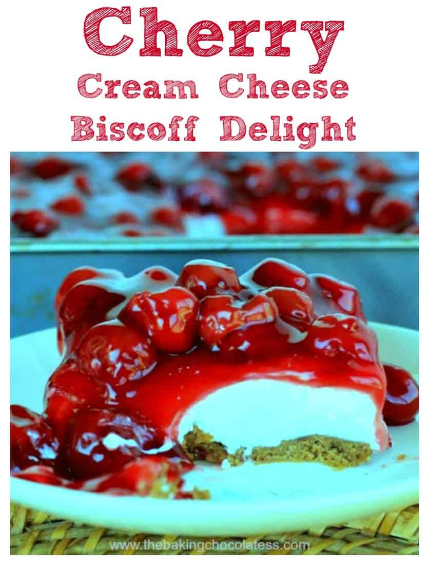 Cherry Cream Cheese Biscoff Delight