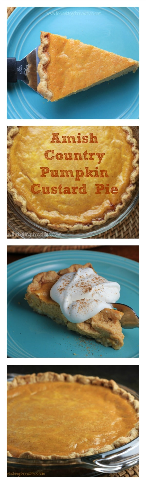Amish Country Pumpkin Custard Pie #pie #custard #pumpkin #amish