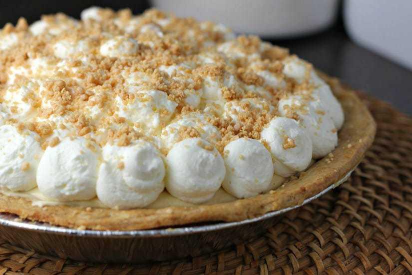 side view Amish Peanut Butter Cream Pie