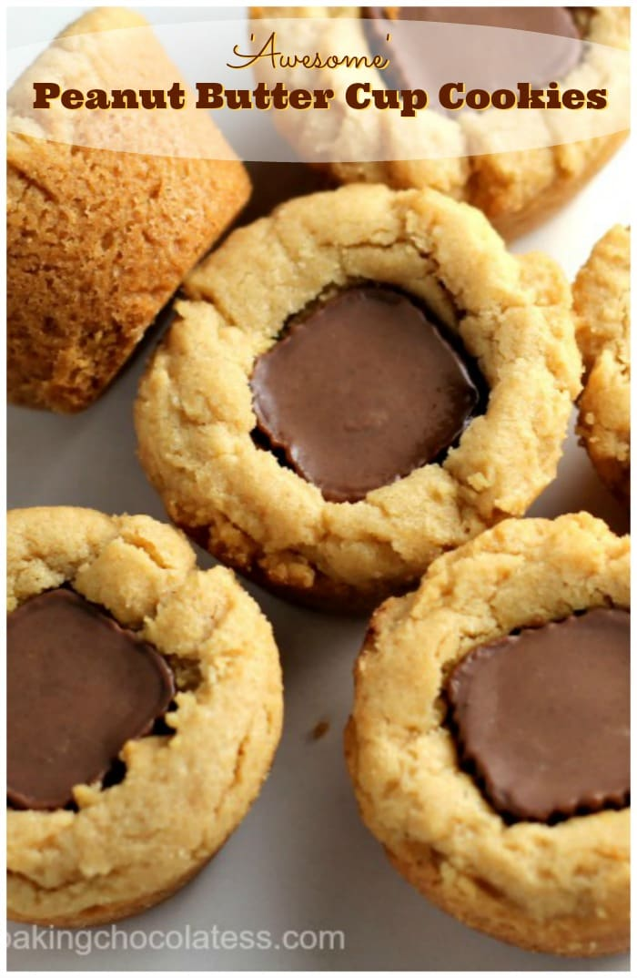 Awesome peanut butter cup cookies the baking chocolatess