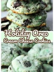 Holiday Oreo Cream Cheese Cookies