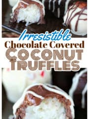 Irresistible Chocolate Covered Coconut Truffles