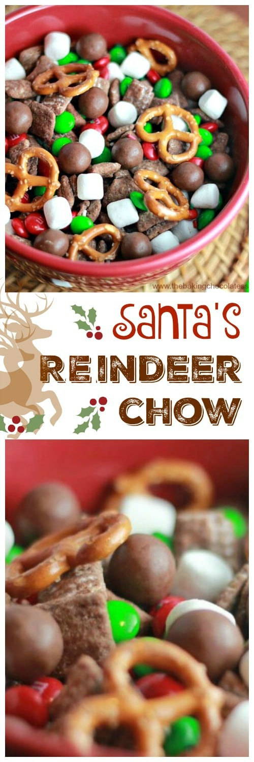 Here comes Santa Claus, Here comes Santa Claus, right down Reindeer Lane!  Santa\'s gearing up for that special night before Christmas and do you know what snack Reindeer love the most? Santa\'s Yummy Reindeer Chow!!