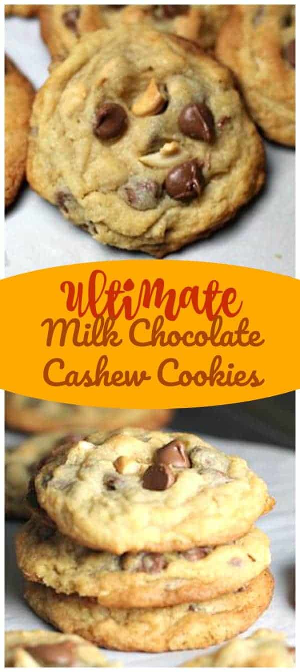 OMG! Ultimate Milk Chocolate Cashew Cookies