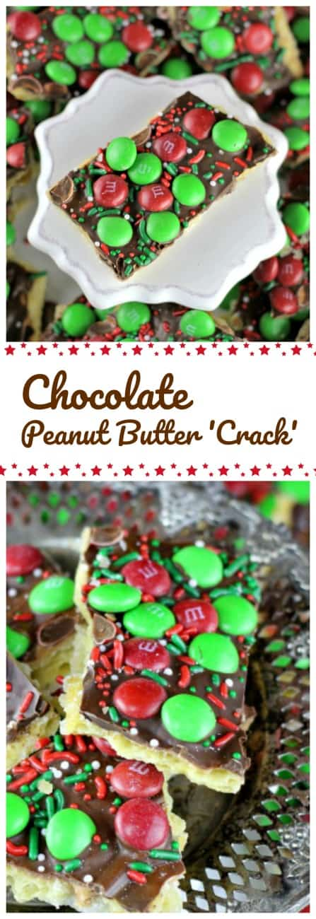 Easy Chocolate & Peanut Butter \'Crack\' Toffee