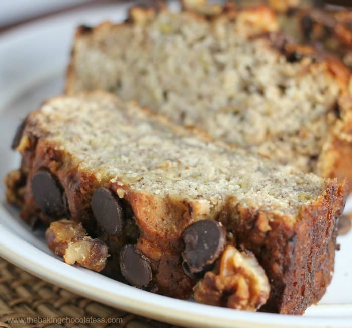Perfect Chocolate Chip Banana Nut Bread