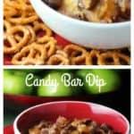 Decadent Caramel Covered Candy Bar Dip