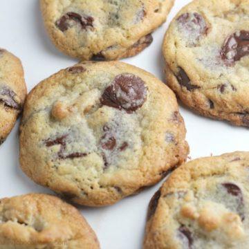 Ultimate Dark Chocolate Chip Toffee Walnut Cookies