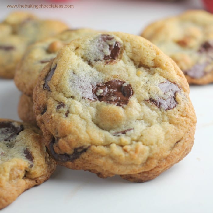 Ultimate Dark Chocolate Chip Toffee Walnut Cookies