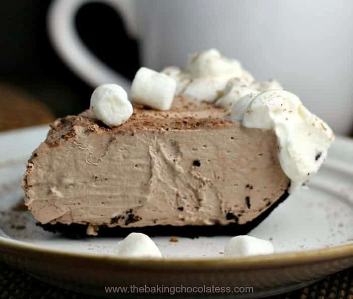 Hot Chocolate Pie Obsession {Frozen or Icebox Style}