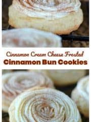 Cream Cheese Frosted Cinnamon Bun Cookies