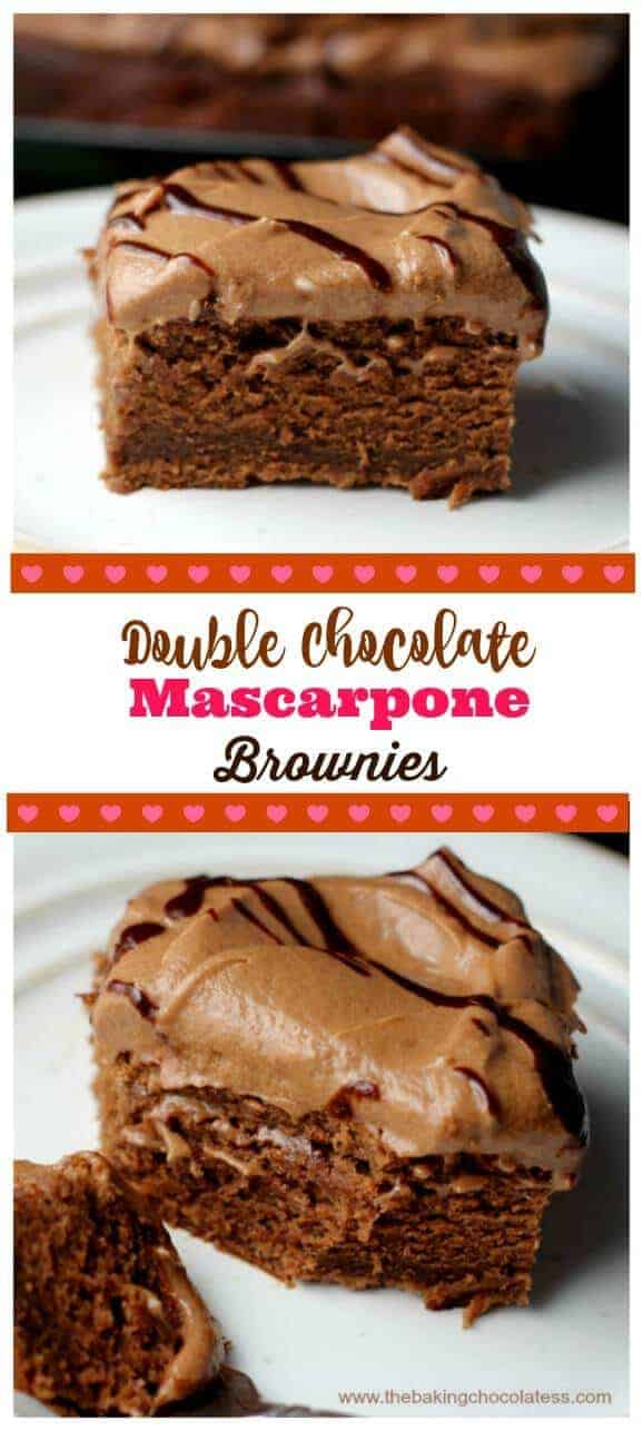 Double Chocolate Mascarpone Brownies