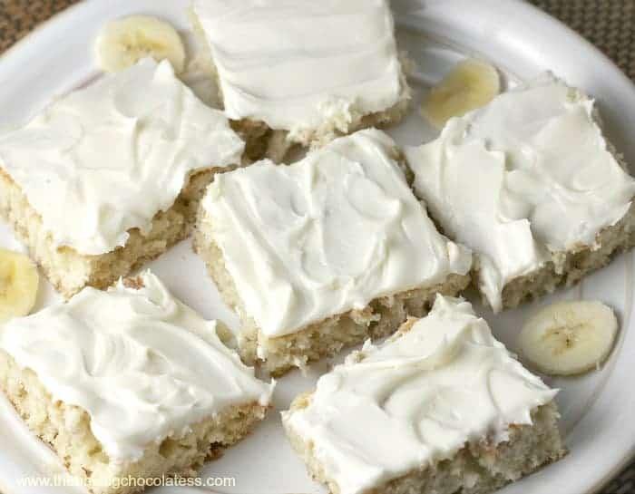 Heavenly Frosted Banana Bars The Baking Chocolatess