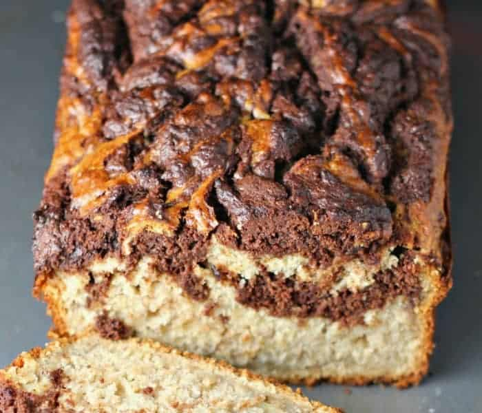 Chocolate Swirl Peanut Butter Lovers Banana Bread