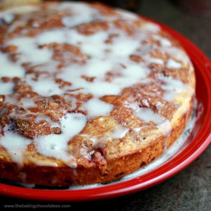 Lush Raspberry Cinnamon Swirl Coffee Cake