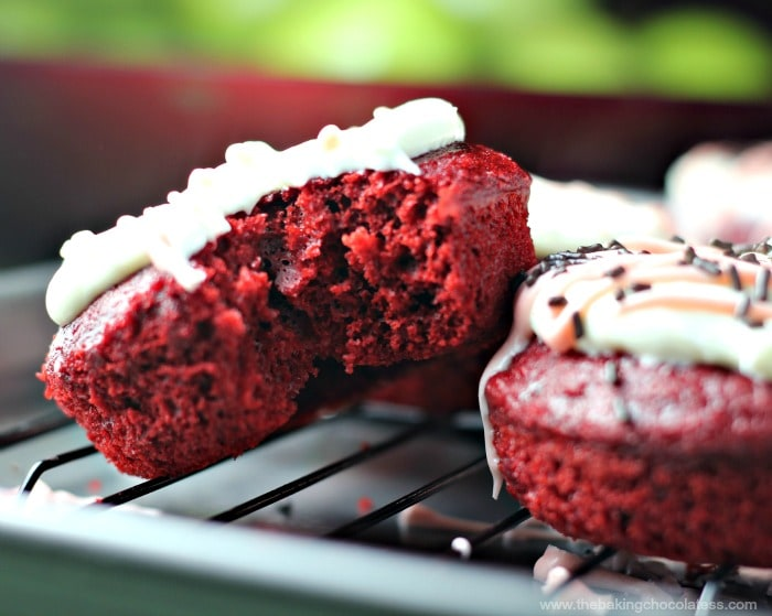Red Velvet Cake Donuts with Cream Cheese Frosting (Of course)