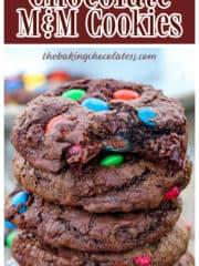 Mega Chocolate M&M Cookies