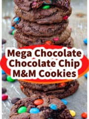 Mega Quadruple Chocolate Cookies