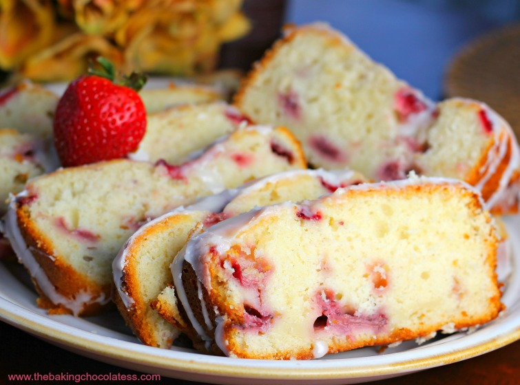 Quick & Easy Lemon Strawberry Yogurt Pound Cake
