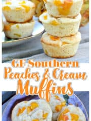 GF Southern Peaches and Cream Muffins