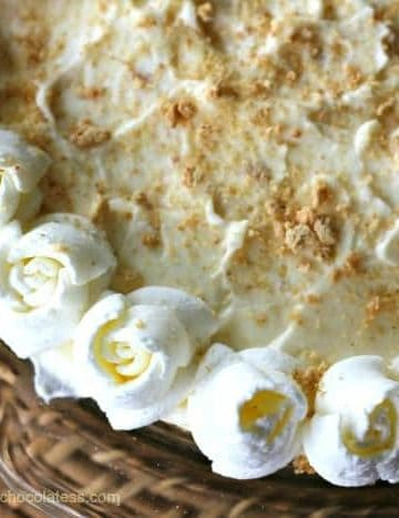 White Chocolate Banana Cream Pie {No-Bake}