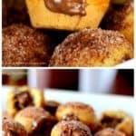 Nutella Churro Donut Poppers