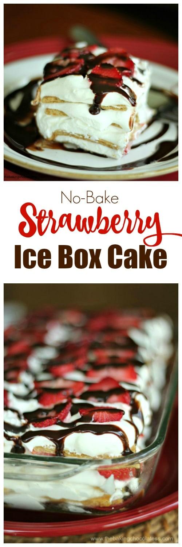 No-Bake Strawberry Ice Box Cake