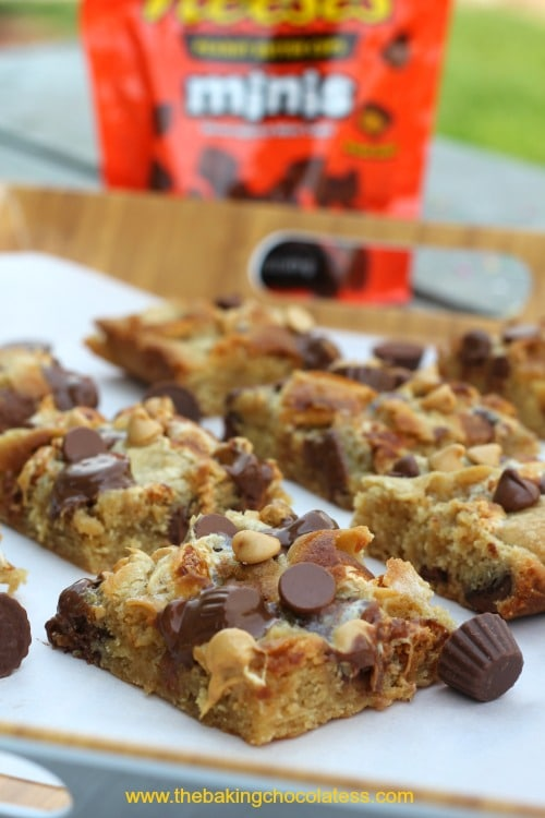 Disappearing Reese's Marshmallow Chocolate Chip Blondies