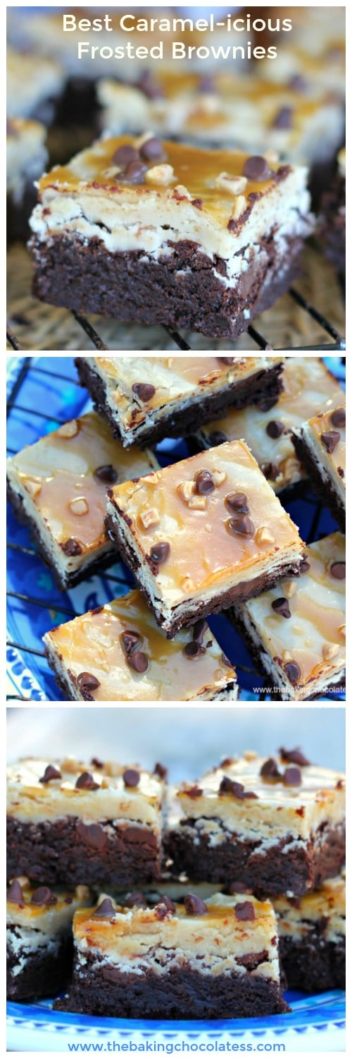 Best Caramel-icious Frosted Brownies (GF Option)