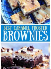 Best Caramel Frosted Brownies