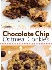 Dark Chocolate Chip Oatmeal Cookies
