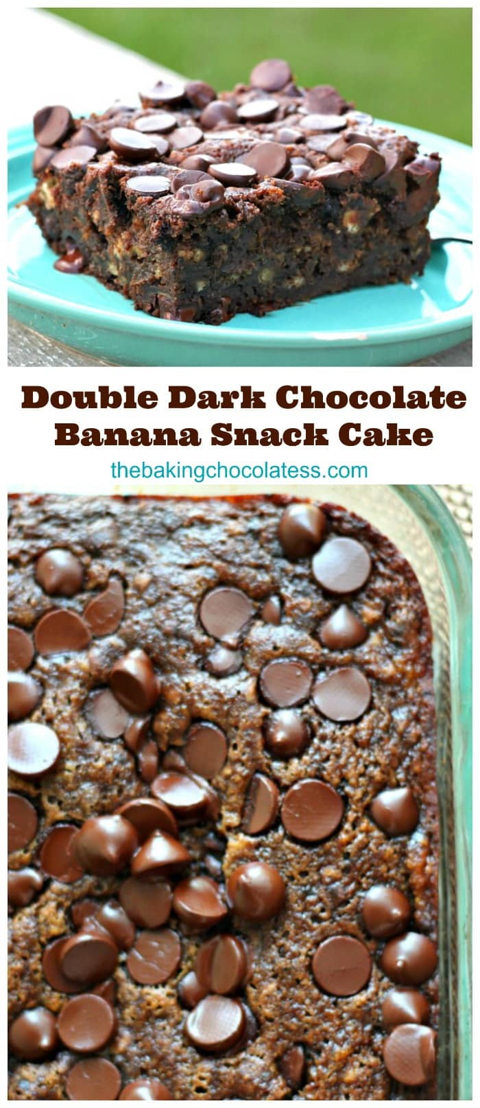 Double Dark Chocolate Banana Snack Cake (We can\'t stop eating it!)