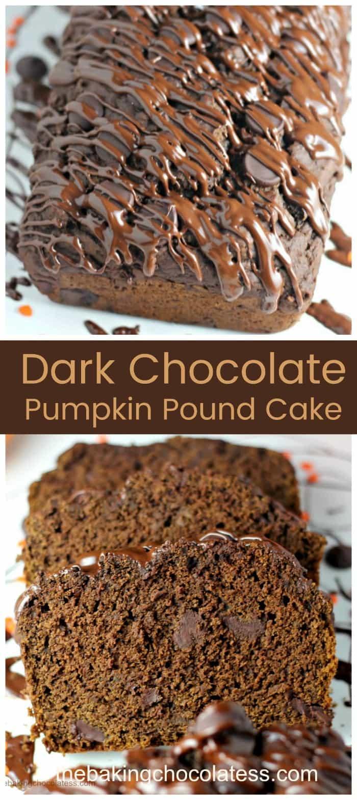 Divine Dark Chocolate Pumpkin Pound Cake