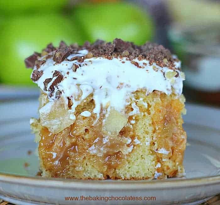 Apple Caramel Toffee Cake