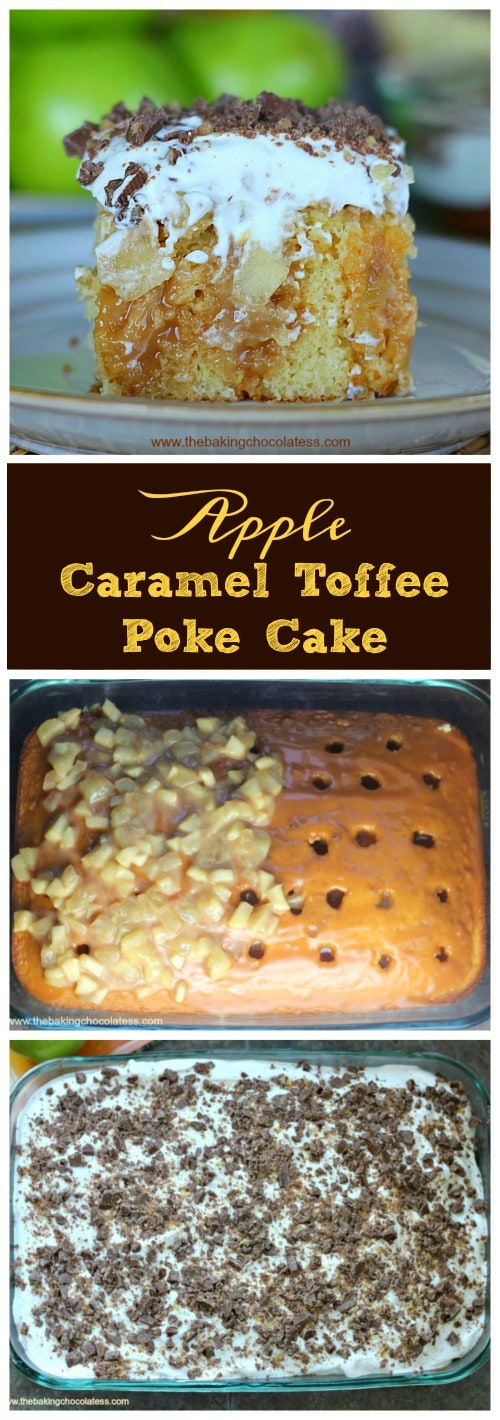 Apple Caramel Toffee Cake Explosion