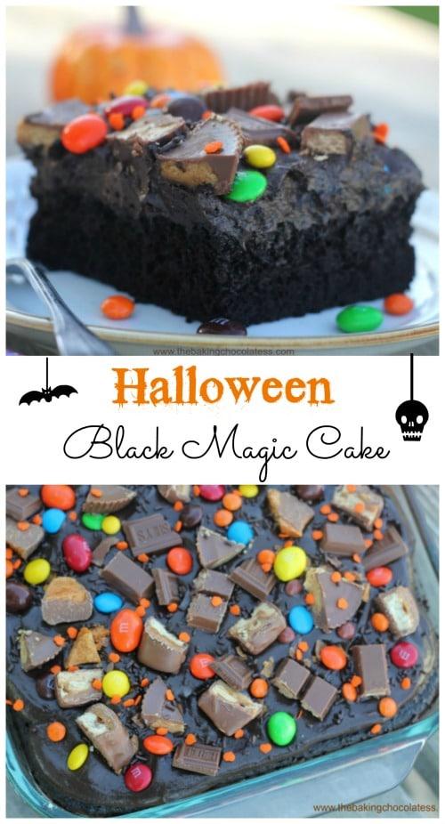Halloween Black Magic Candy Cake! It's Insane!