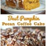 Best Pumpkin Pecan Coffee Cake