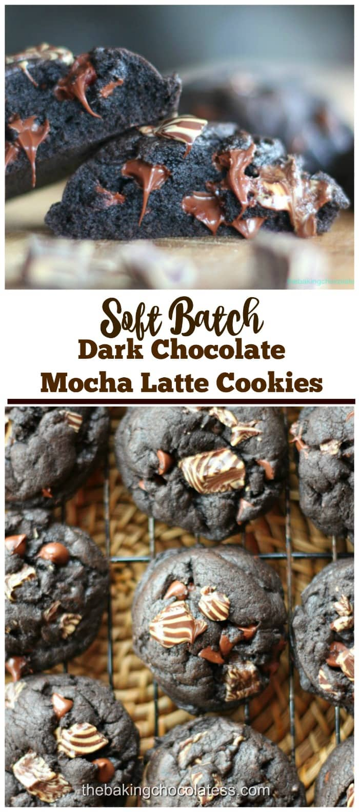 Intense Dark Chocolate Mocha Latte Cookies