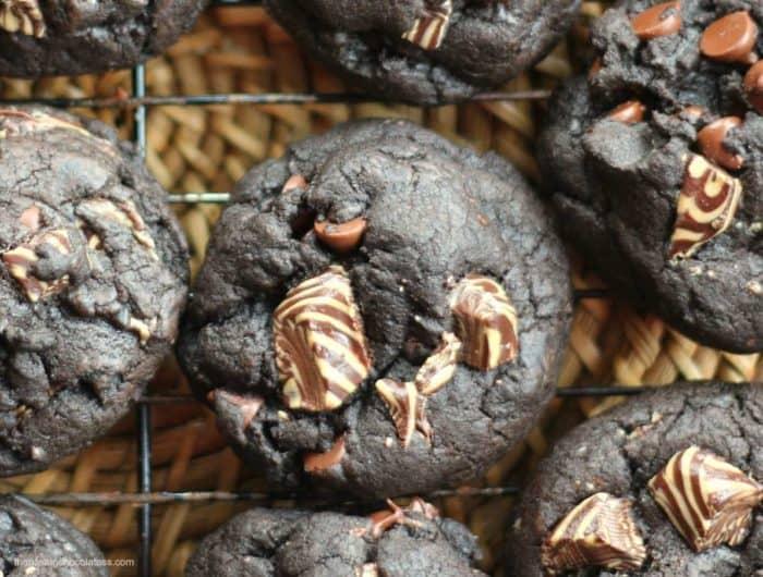 Intense Dark Chocolate Mocha Latte Cookies