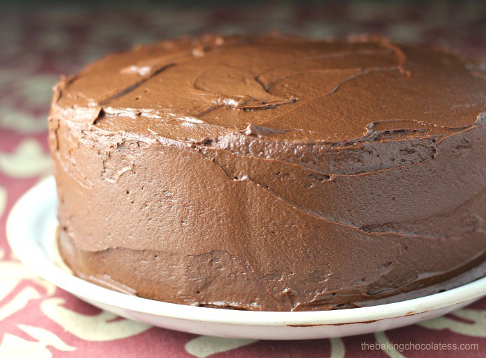 Super-Moist Chocolate Cake with Chocolate Buttercream Frosting