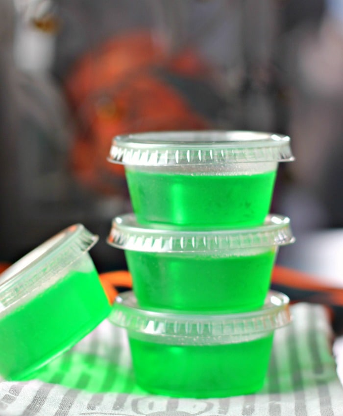 Luscious Lime Cake Vodka Jello Shots