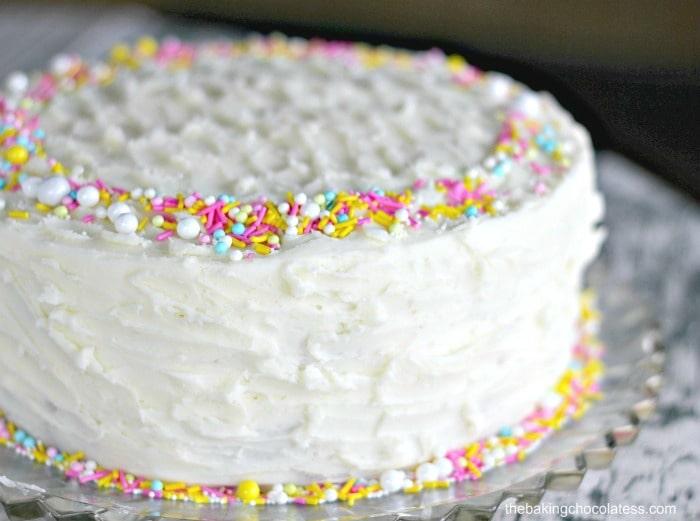Super-Moist Vanilla Cake with Vanilla Buttercream Frosting