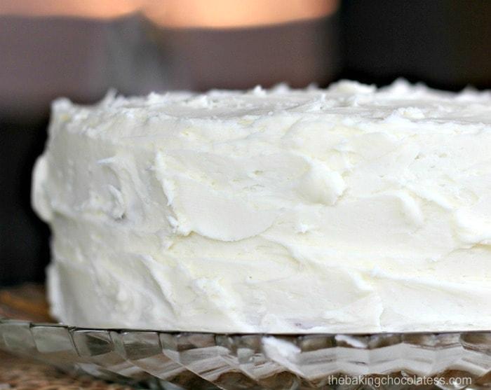 Super Moist Vanilla Cake With Vanilla Buttercream
