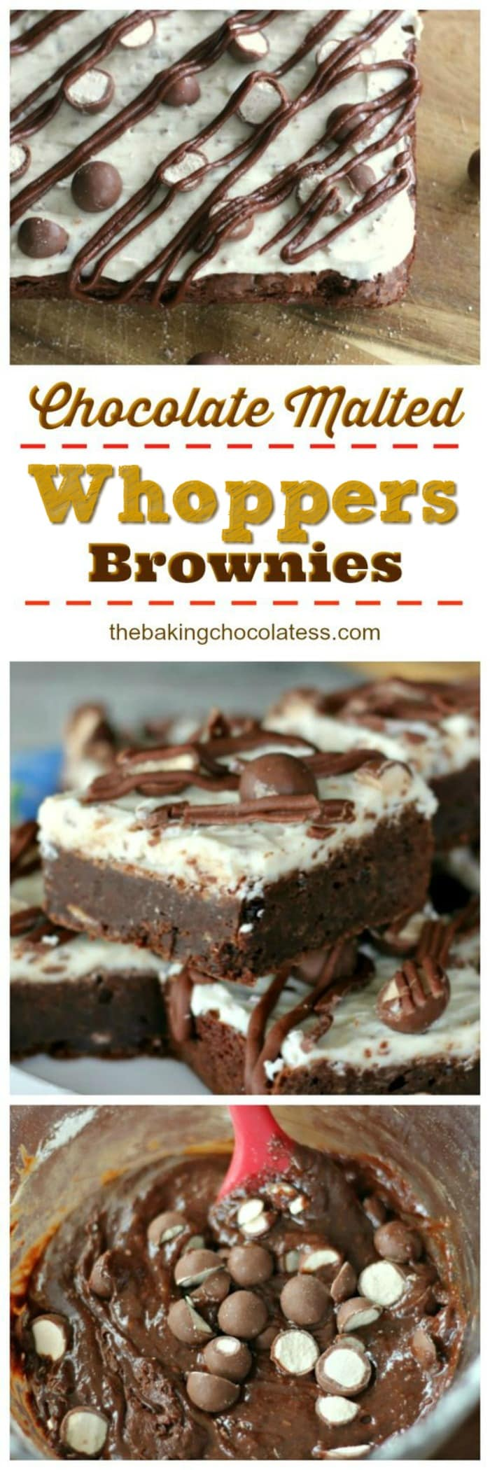 Triple Chocolate Malted Whoppers Brownies