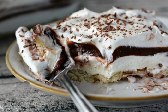 Chocolate Cream Layered Dessert - Layers of Yumminess