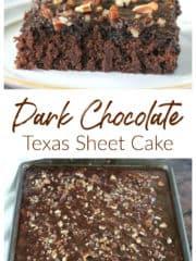 Dark Chocolate Texas Sheet Cake
