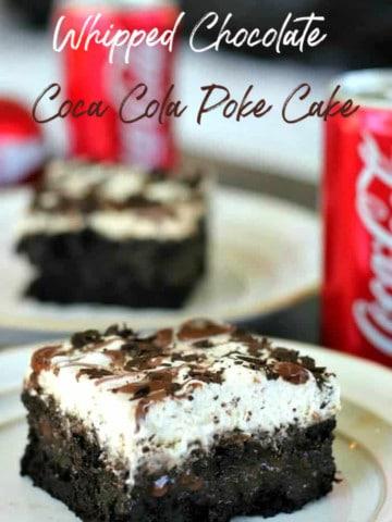 Whipped Chocolate Coca Cola Poke Cake