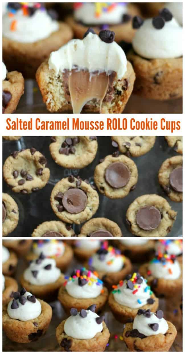 Salted Caramel Mousse ROLO Cookie Cups