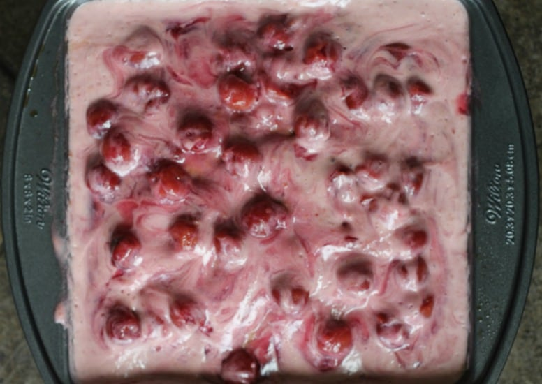 Very Cherry Cheesecake Poke Cake